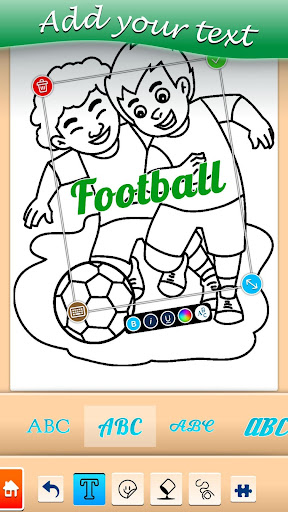 Football coloring book game apkpoly screenshots 5