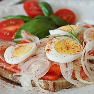 German Salmon Sandwich with Onions & Egg.