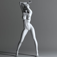 Sexy pose nude woman sculpture