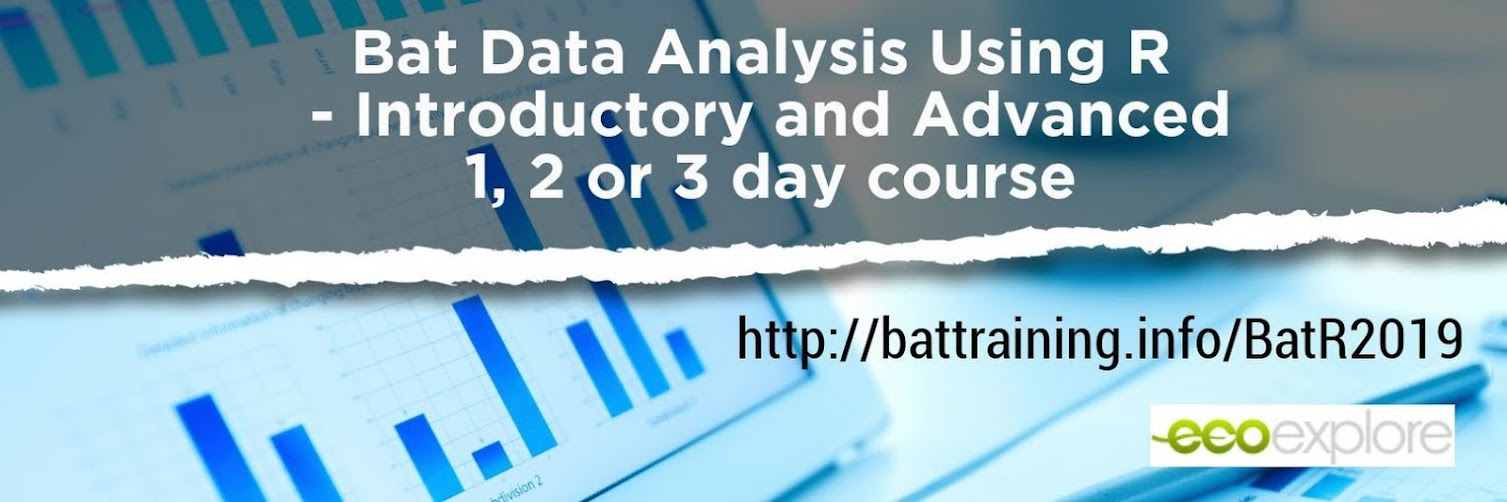Introductory and Advanced Bat Data Analysis Using R
