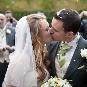 Happy Couple by Chris Boulton - Wedding Bride & Groom