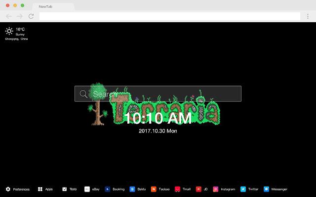 Terraria Popular games HD New Tabs Themes