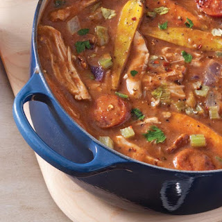 Rabbit, Andouille, and Root Vegetable Etouffee Recipe