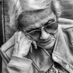 Abuelita by Foggy Paipa - People Portraits of Women ( love, old, exhausted, woman, family, tired, lady, grandma, women, abuela, portrait,  )
