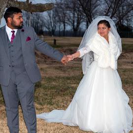 December Wedding by Greg Reeves - Wedding Bride & Groom ( bride, groom, wedding photography, weddings, weddding )
