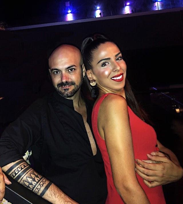 El prestigioso diseñador Sergi Regal junto a Lucía Abascal.