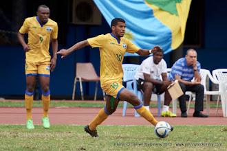 Photo: Quentin Rushenguziminega (10) [Rwanda Vs Ghana AFCON2017 Qualifier, 5 Sep 2015 in Kigali, Rwanda.  Photo © Darren McKinstry 2015