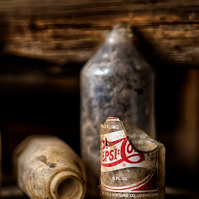 Run Dry by Mike Ritchie - Artistic Objects Glass ( broken, old, red, 85mm, glass, white, bottle, pepsi, nikon, black )