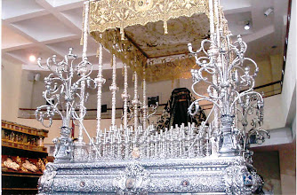 Photo: This silver float is used for Holy Week parades through town to the Cathedral.