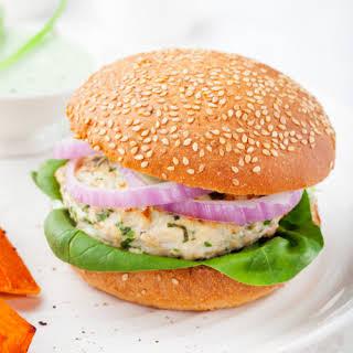 Spinach and Feta Stuffed Turkey Burgers.