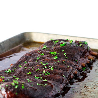 The Best Oven Baked Ribs with BBQ Sauce.