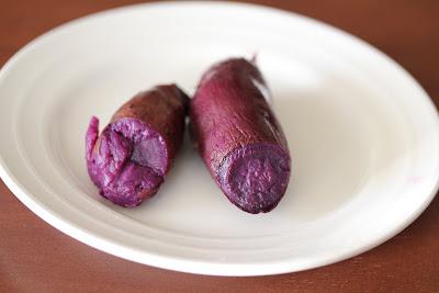 photo of purple sweet potato on a plate