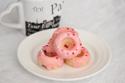 valentine's day donuts on a plate