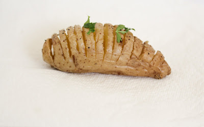 photo of one Mini Hasselback potato
