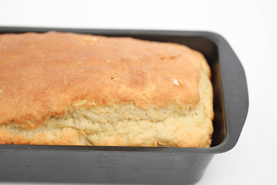 photo of a loaf of bread in a pan