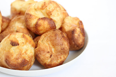 close-up photo of a plate of popovers