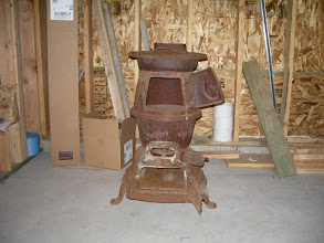 "Photo: I'd been looking for months for just the right stove to put in ""The Potbelly Woodshop"", when this one landed in m'lap..."