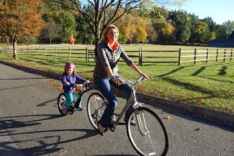 Photo: Erica gives Camden a ride.