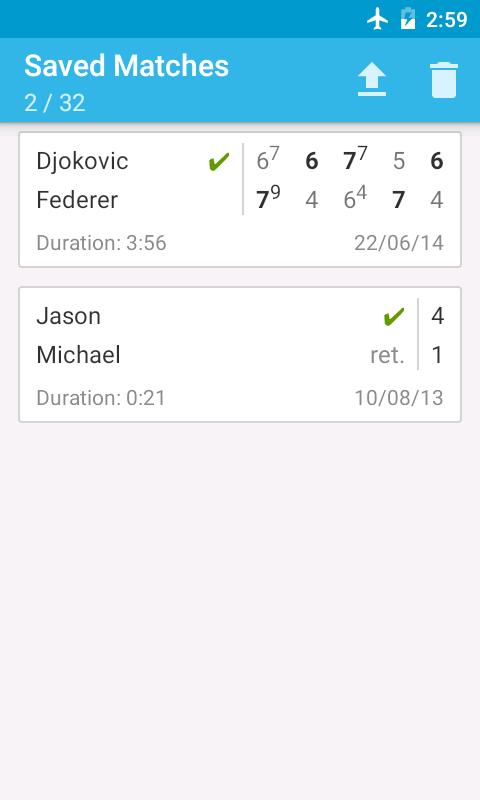 Tennis Score Keeper- screenshot