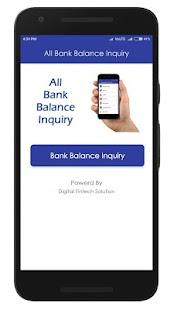 Digital Bank Balance Inquiry - náhled