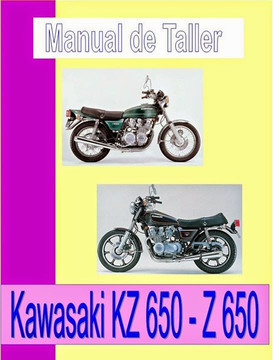 kawasaki kz 650 manual-taller-servicio-despiece