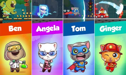 Talking Tom Candy Run Mod Apk Download (Unlimited Everything) for Android 4
