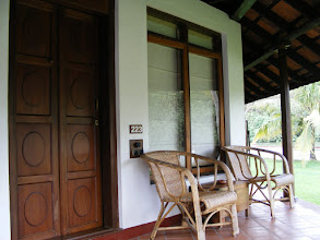 Photo: Our bungalow verandah