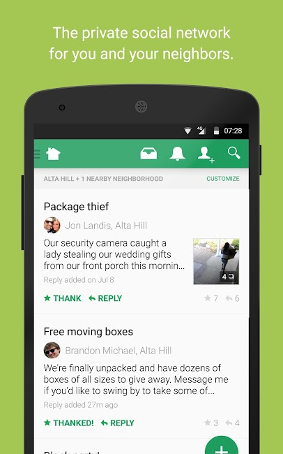 #1. Nextdoor (Android)