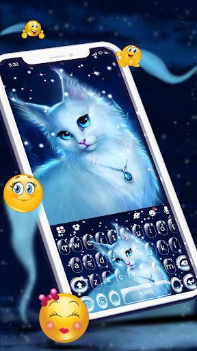 Elegant Kitty Night Keyboard Theme cheat hacks