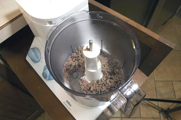 Remove from the pot, and place into a food processor, fitted with an S-blade,...