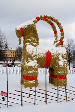 Photo: The famous Gävle Christmas goat, one of the main reasons of my visit to Gävle during Christmas time =)