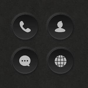Dark Button Atom Iconpack v1.0 APK