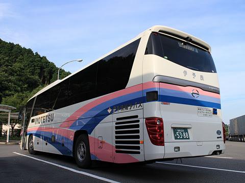 伊予鉄南予バス「道後エクスプレスふくおか号」 5388 桜三里PAにて その3