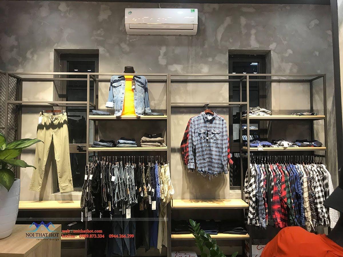 thiết kế thi công shop thời trang nam polido 7