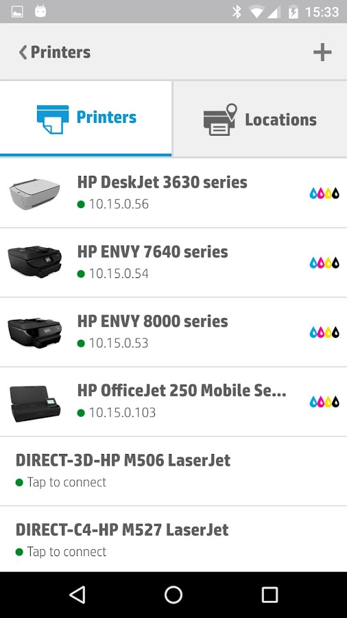 HP ePrint: captura de pantalla