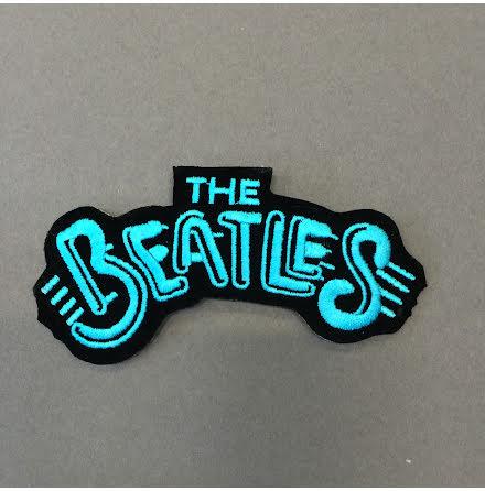Beatles - Svart/Blå Logo - Tygmärke