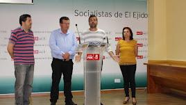José Miguel Alarcón con Desiderio Enciso y otros dos excomponentes de UPyD.