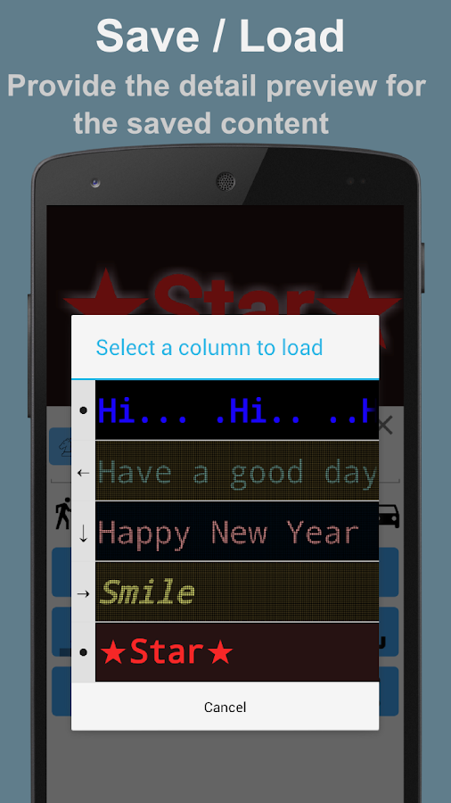 Running Text- screenshot