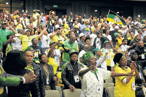 CONTESTED CONFERENCE: ANC members sing at the ANC provincial conference held at the East London ICC at the weekend Picture: FILE
