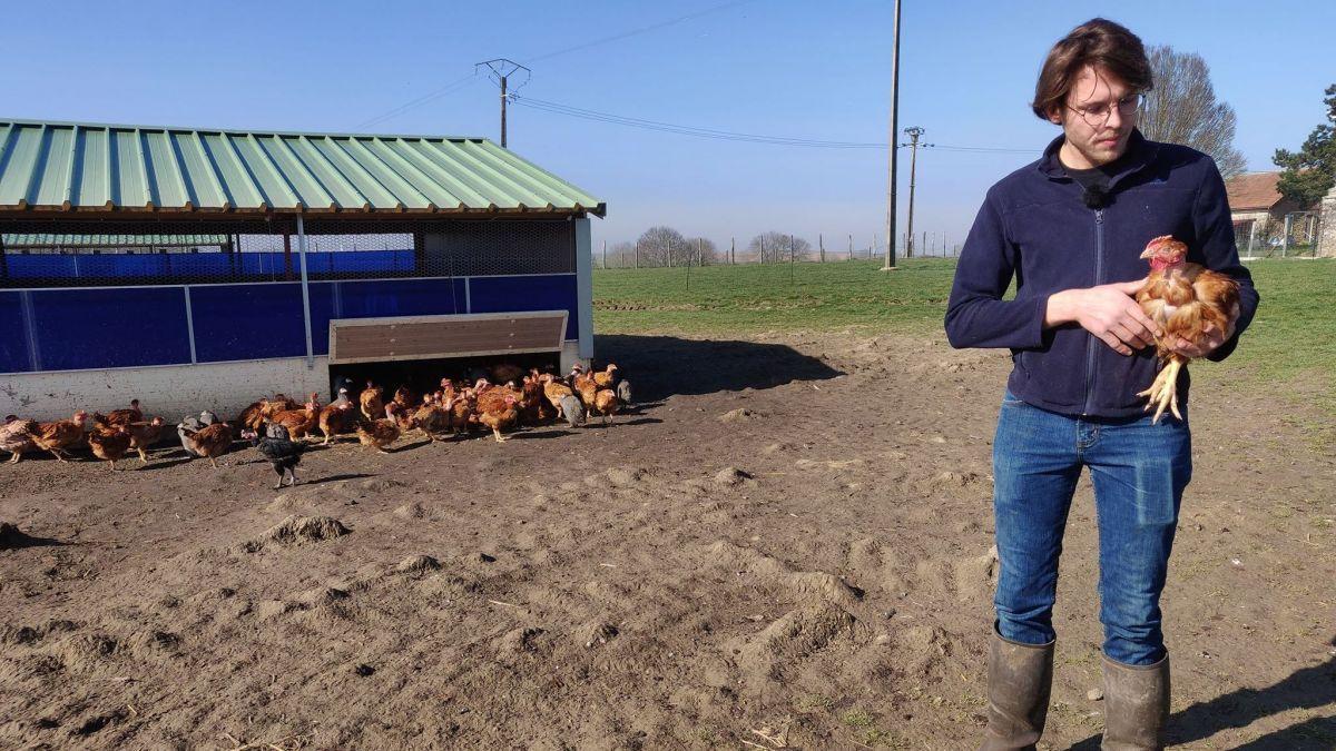 """Thomas Vecten fait partie du réseau """"Bienvenue à la Ferme"""", qui s'engage à proposer des produits fermiers de qualité. / © RI"""