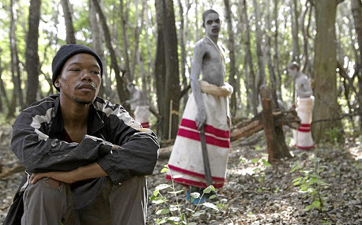 A scene from the film, 'Inxeba', that has sparked controversy for its portrayal of homosexuality amid the process of initiation.