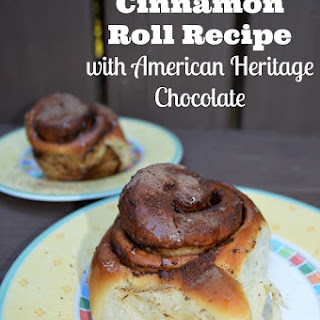 Easy Cinnamon Roll Recipe With American Heritage Chocolate