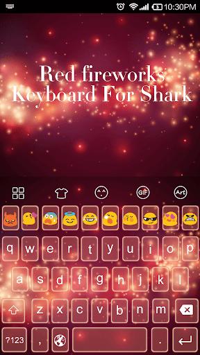 Red Fireworks -Kitty Keyboard