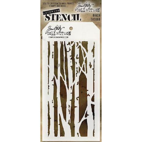 Tim Holtz Layered Stencil 4.125X8.5 - Birch