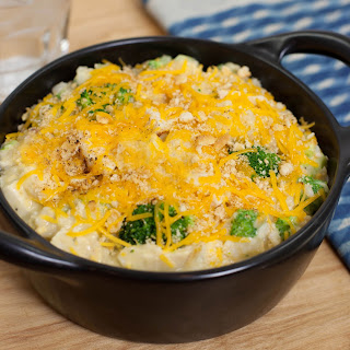 Chicken, Broccoli, Rice & Cheese Casserole.