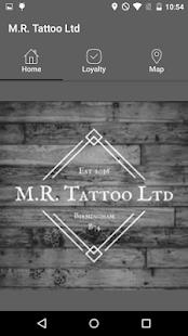 M.R. Tattoo Loyalty App - náhled