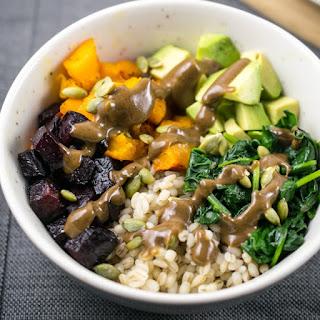 Winter Roasted Vegetable Barley Bowls Recipe