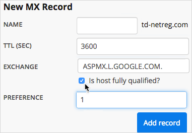Is host fully qualified checkbox is selected.