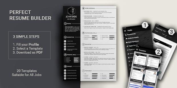 free resume builder pdf formats cv maker templates screenshot thumbnail - Resume Maker Template