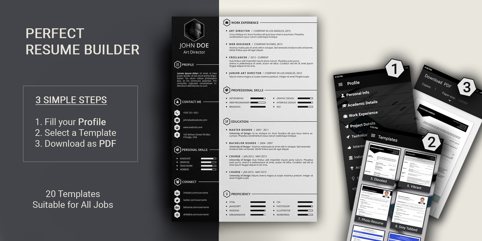 Free resume builder PDF formats CV maker templates  Android Apps on Google Play